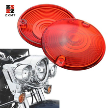 ZXMT 2Pcs Amber Turn Signal Light Lens Cover For Harley-Davidson Dyna Sportster Touring Road King Glide Orange Red White