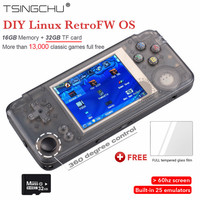 Latest Version RS97 Plus RetroFW Linux System Retro Game Console 3.0 inch 60Hz HD Screen Double System RGP Handheld Game Player