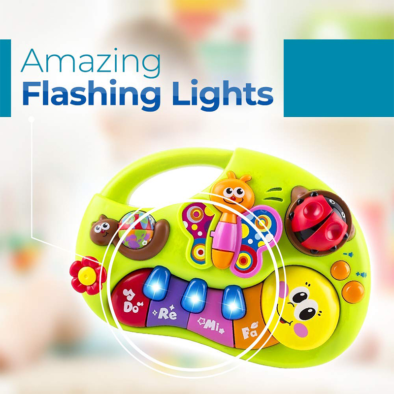 Baby Organ Toy Illuminating and Learning Toddler Toy with Sound /& Light