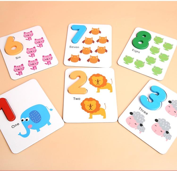brinquedo de emparelhamento digital cartões com contagem