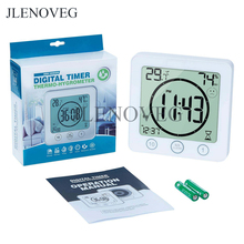 Waterproof Bathroom Clock and Timer for Shower, Digital Water Resistant Shower A