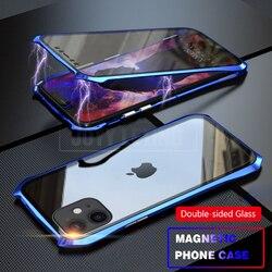 Adsorção magnética 11 Pro Tampa Caixa Do Telefone Para o iphone 360 caso Magnética Para iPhone 11 Pro Max Caso Tampa De Metal caso Coque