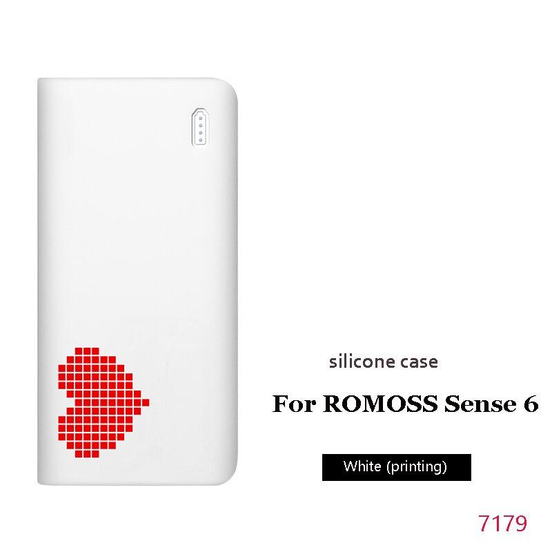 Силиконовый чехол для romoss sense 6, 20000 мА/ч, мобильный, мощный, мягкий, силиконовый, анти-столкновения, противоскользящий чехол, мобильный, мощный, кожаный чехол - Цвет: 7
