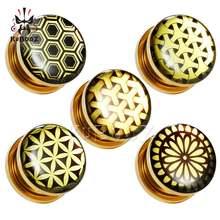 Серьги Для Пирсинга Ушей tuxture бронзовые серьги расширители