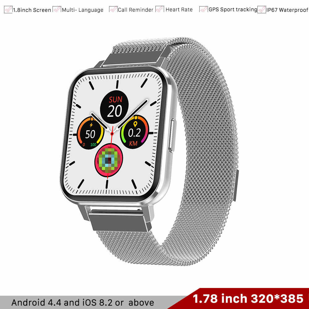 Iwo Dtx Smart Watch 1 78 320 385 Full Touch Screen Watch Ecg Heart Rate Fitness Tracker Smartwatch For Android Ios Pk Iwo 12 13 Smart Watches Aliexpress