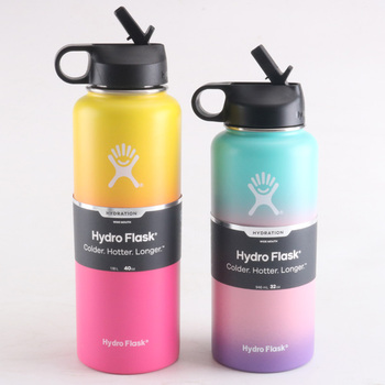 32oz/40oz Hydro Flask Water Bottle Stainless Steel Water Bottle Vacuum Insulated Wide Mouth Travel Portable Thermal Bottle 1