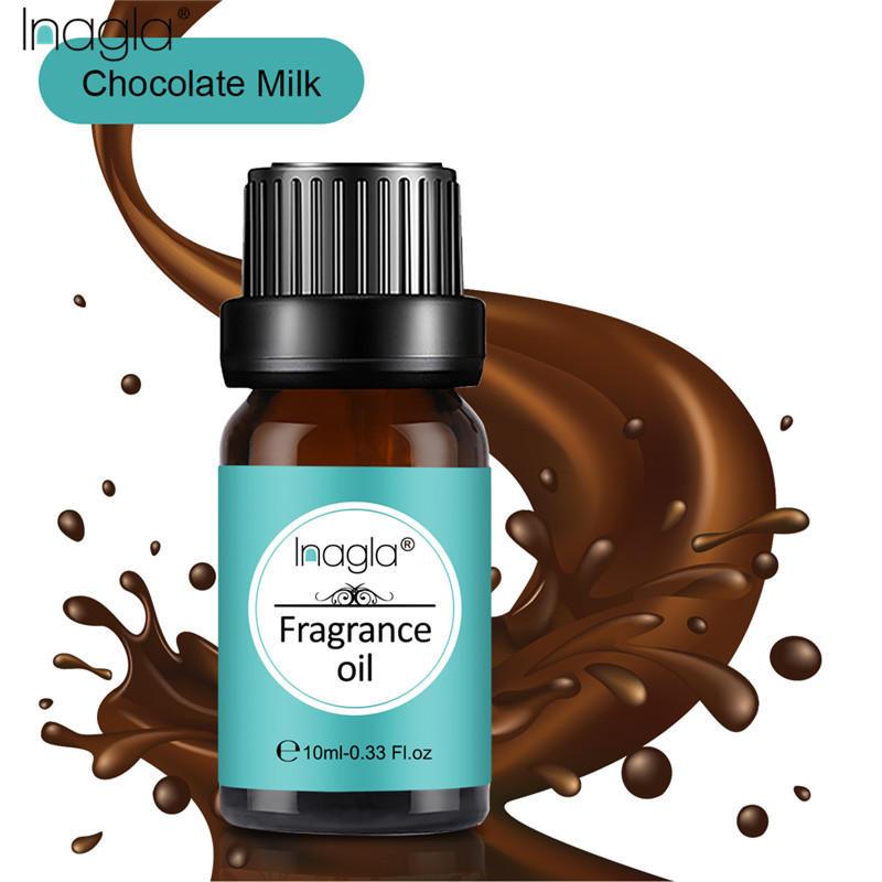 Inagla Chocolate Milk Fragrance Essential Oils 10ml Pure Plant Fruit Oil For Aromatic Aromatherapy Diffusers Jasmine Orange Oil