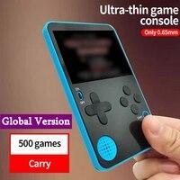 Ultra delgada de Video consola de juegos portátil reproductor de juego construido en 500 juegos Retro consola de juegos consolas de juegos de vídeo