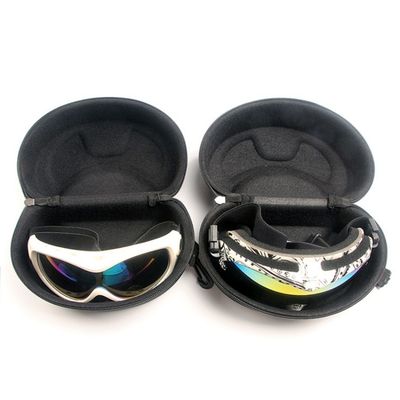 New Snow Ski Eyewear Case Zipper Sunglasses Glasses Hard Cases Protector Bags Box Holder With Hook