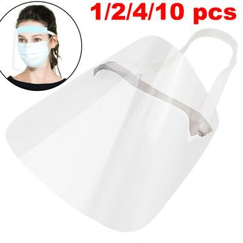 1/2/4/10PC Full Face Shield Mask Clear Flip Up Visor Protection Safety Work Guard For Droplet, Dust,Oil Fume Full Face Mask