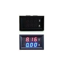 Dc 100v 10a digital voltímetro amperímetro carro da motocicleta azul com vermelho display duplo led amp duplo volt medidor medidor ferramenta diy