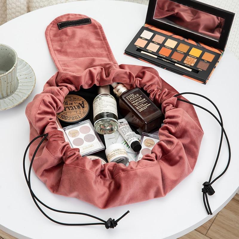 cosmetic pouch velvet women (2)