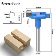 1PC 6MM Shank Milling Cutter Wood Carving T-Slot Milling Cutter Router Bit Woodworking Milling Cutter For Wood Tools coating taper milling cutter carving knifer for acrylic plastic processing shk12mm 30degree