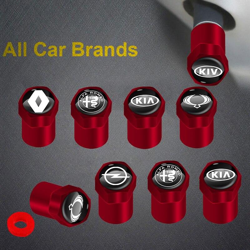 Комплект одежды из 4 предметов, новая красная металлический автомобиль колпачки вентиля шин аксессуары для Mazda 3 5 6 323 626 CX-3 CX-4 CX-5 CX-7 CX-9 Axela 6 RX8 7 ...