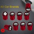 Колпачки клапанов автомобильных колес, красные металлические аксессуары для Honda Mugen Power Accord Civic CRV Hrv Jazz CBR VTX VFR, 4 шт.