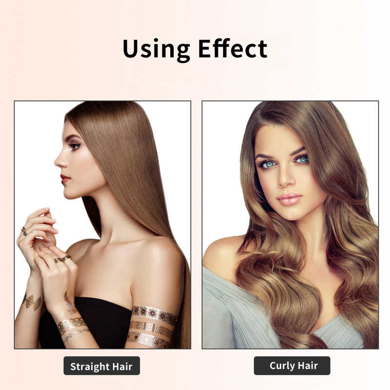 3 In 1 One Step Hair Dryer And Volumizer Negative Ion Hair Straightening Brush Dry Wet Dual Use Suitable For All Type Of Hair Curling Irons Aliexpress