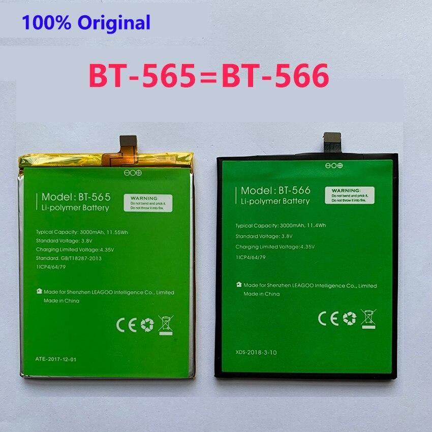 100% Original BT-565&BT-566 3000mAh Battery For Leagoo KIICAA Mix T5 T5C BT565&BT566 Mobile Smart Phone Parts  Batterie Baterij