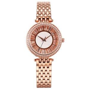Image 2 - Relojes dama reloj de lujo de acero inoxidable, reloj de pulsera de cuarzo para mujer