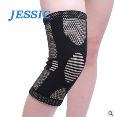 JESSIC 1pc Ion Knee Support Pad Non-slip Antibacterial Automaticlly Locking Edge Fitness Running Cycling Knee Support