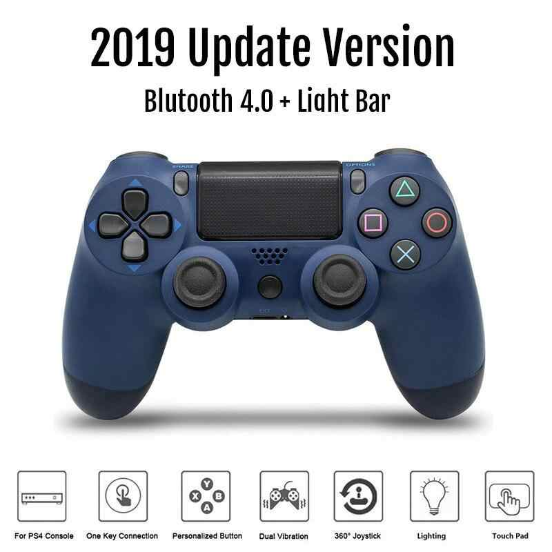 Kpay Kontroler Nirkabel Bluetooth 4.0 Dual Shock Joystick Gamepad untuk PlayStation 4 PS4 Gamepad PS4 Versi 2 Mendukung PC