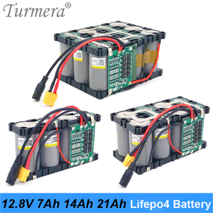 Turmera 32700 Lifepo4 Battery Pack 12.8V 7Ah 14Ah 21Ah 4S 40A Balancing BMS for Electric Boat and Uninterrupted Power Supply 12V