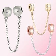 2019 100% argent Sterling 925 classique signes de sécurité chaîne de sécurité femmes charme personnalité bijoux accessoires livraison gratuite