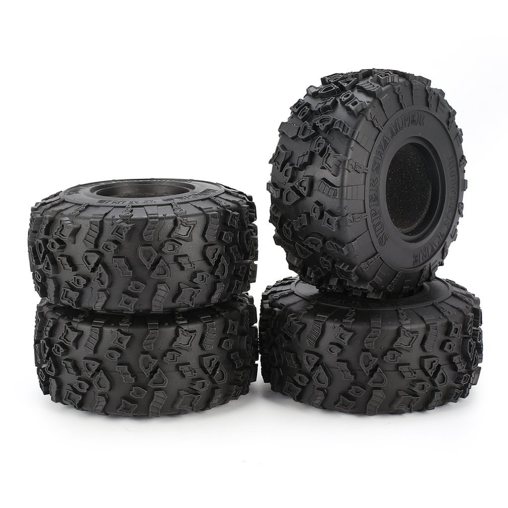 4Pcs <font><b>2.2</b></font> Inch Climbing Wheel Hub <font><b>Tire</b></font> Skin 120Mm Simulation Climbing for 1/10 RC Rock Crawler Trx-4 <font><b>Tire</b></font> Scx10 90046 D90 Model image