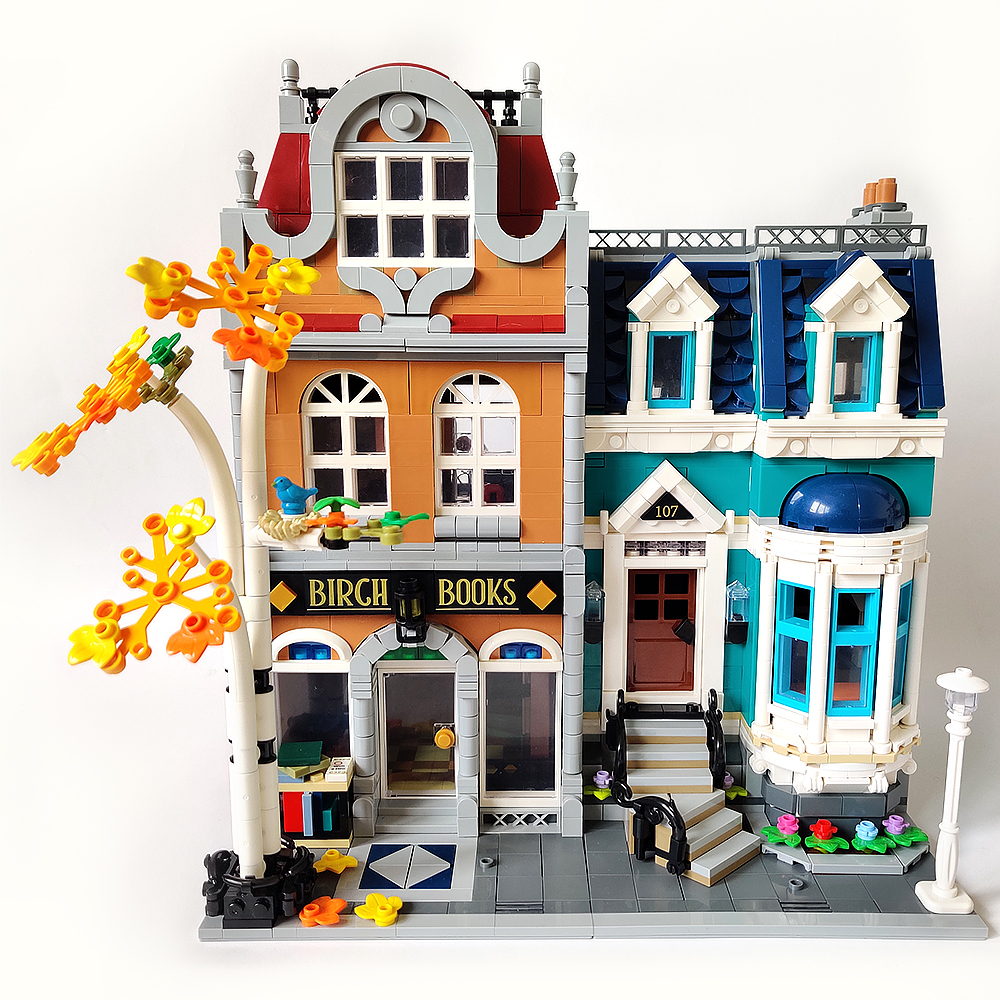 In stock 10201 City Street View Bookshop 2524Pcs Creator Model Building Kits Blocks Bricks Toys Children Gift Compatible <font><b>10270</b></font> image