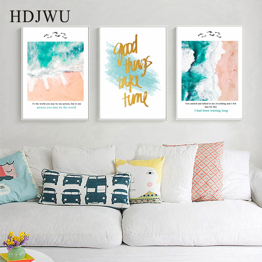 Modern Simple Canvas Painting Wall Picture Home Wall Decor Printing Posters for Living Room AJ00377 in Painting Calligraphy from Home Garden
