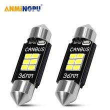 ANMINGPU 2x сигнальная лампа C10W C5W Led Canbus 31 мм 36 мм/39 мм/41 мм Festoon светодиодные лампы для номерного знака автомобиля светильник Лампы для чтения све...