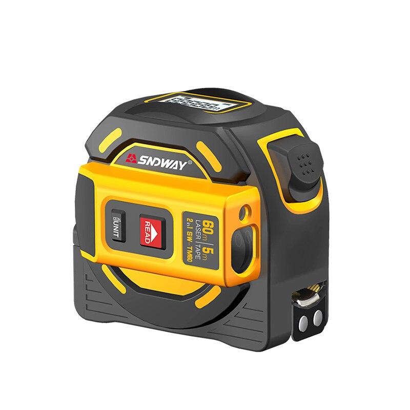 SNDWAY Neue Laser Abstand Band Entfernungsmesser Multi-funktion Selbst-Locking Hand Werkzeug Gerät SW-TM40 SW-TM60