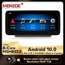 Mekede 2DIN Android 10.0 8 Core 4G + 64G 4G Lte Auto Gps Navigatie Multimedia Speler Voor mercedes Benz Glc C Klasse W205 2015 2018