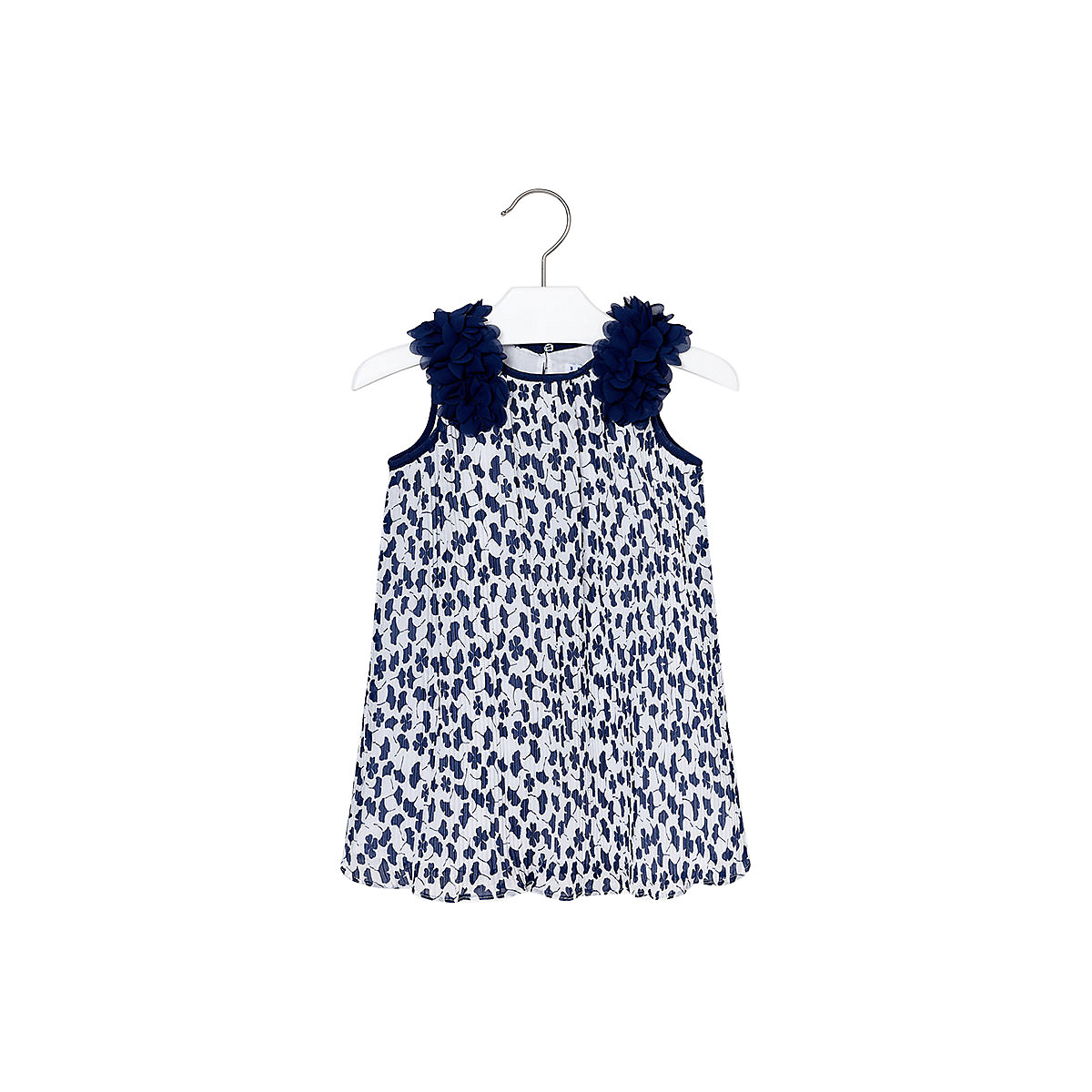 MAYORAL Dresses 10685286 Girl Children Party fitted pleated skirt Blue Polyester Preppy Style Print Knee-Length Sleeveless Sleeve girl print drawstring top
