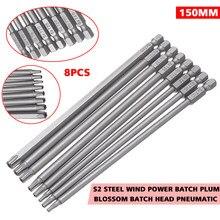 8 pçs/set 150 milímetros Hex Haste Longa de Aço Magnético De Segurança Torx Bit Chave De Fenda Elétrica Set T8 ~ T40 Hand Tool