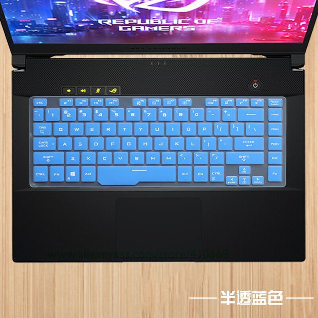 15.6 cal silikonowa klawiatura do laptopa pokrywa pokrowiec ochronny ze skóry dla asus rog Zephyrus G GA502 GA502D ga502du ga502gu Notebook