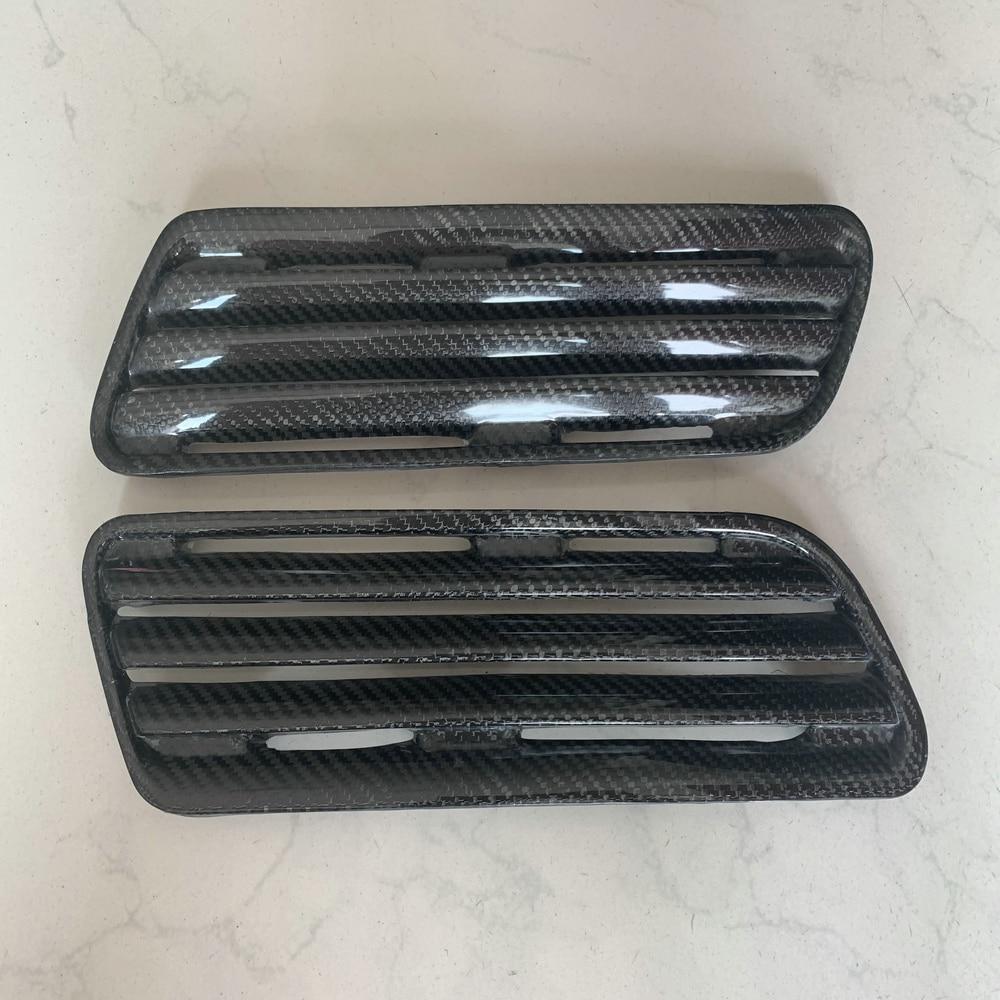 3PCS Carbon Fiber Hood Scoop Intake Vent Cover For Mitsubishi Evolution EVO 10 X