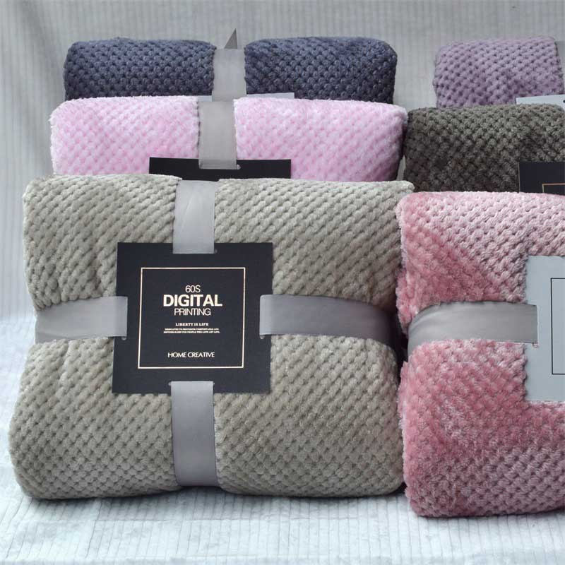 Super Soft Solid Blanket Coral Fleece Blanket Cover for Sofa Bed Thicken Blanket Siesta Office Bedspread Yoga Coverlet for Home-0