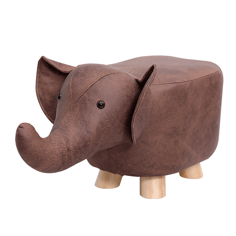 Cartoon Animal Children's Stool Solid Wood Creative Small Chair Elephant Sofa Stool Bench Replacement Footstool