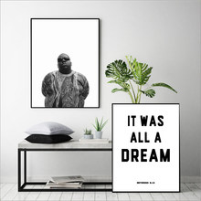 Rap Lyrics Canvas Art Print Wall Poster, The Notorious BIG Art Decor Canvas Painting Wall Picture Home Decoration(China)