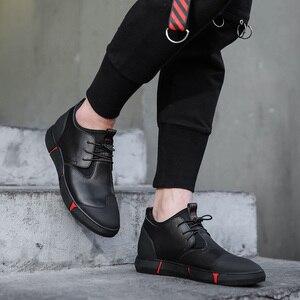 Image 4 - Misalwa 5CM / 7 CM גובה להגדיל פיצול עור גברים מעלית נעלי יומי מקרית Sneaker אופנה נוח התאמה גברים נעליים