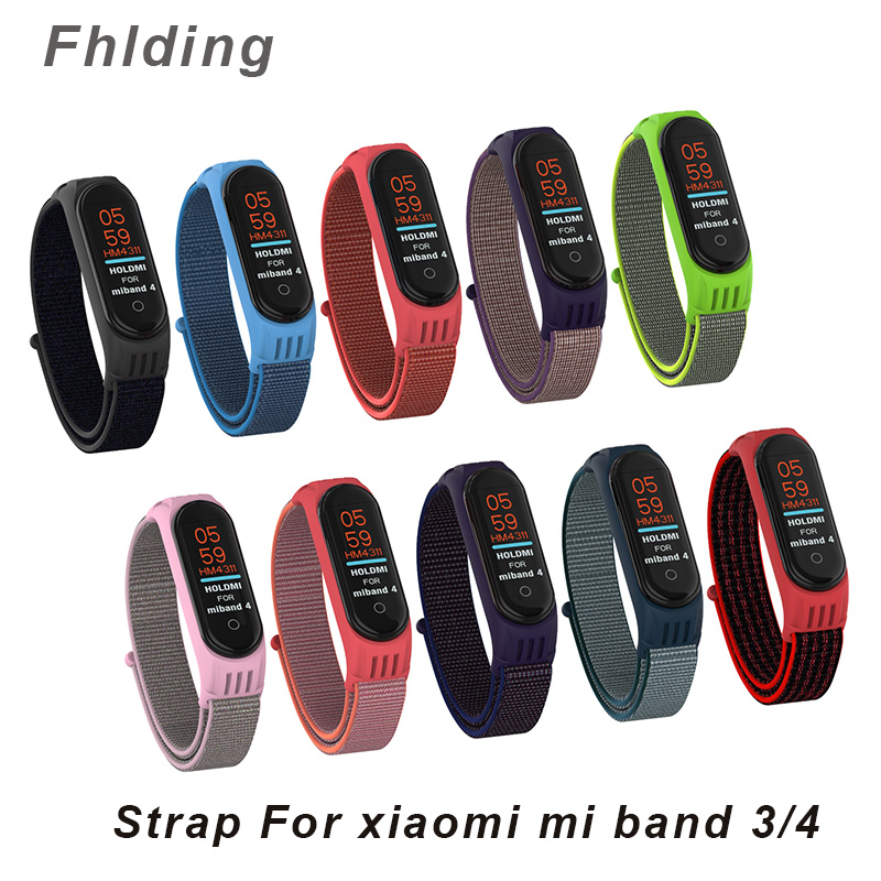 Soft TPU Replaceable Bracelet For Xiaomi Mi Band 3 4 Strap Nylon Silicone Sport Wristband For Mi Band 3 Band 4 Smart Watch Strap