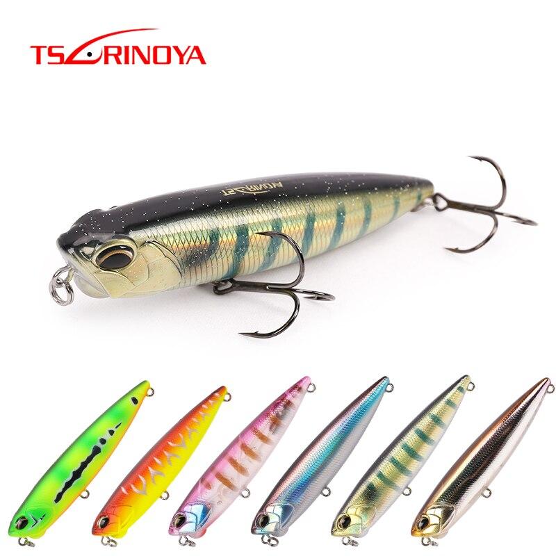 TSURINOYA Fishing Lure DW58 Top Water Floating Pencil Wobblers 110mm 20.5g Bass Lure Swimbait Snakehead Artificial Hard Bait
