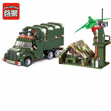 цена на Enlighten Military Series Troop carrier Building Blocks set Bricks Construction Toys For Children Gift 811 Legoegoly