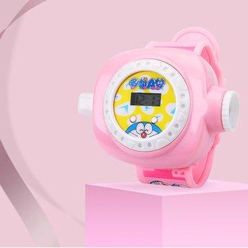 Submarino pequeña columna proyección reloj Niño de dibujos animados femenino estudiante electrónico bebé niño luminoso