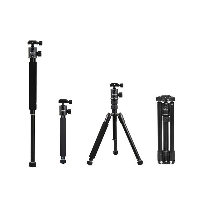 "Selens 150cm/62 ""שחור מקצועי חצובה צילום חדרגל עבור DSLR מצלמה נייד קל משקל נסיעות Tripode Stand"