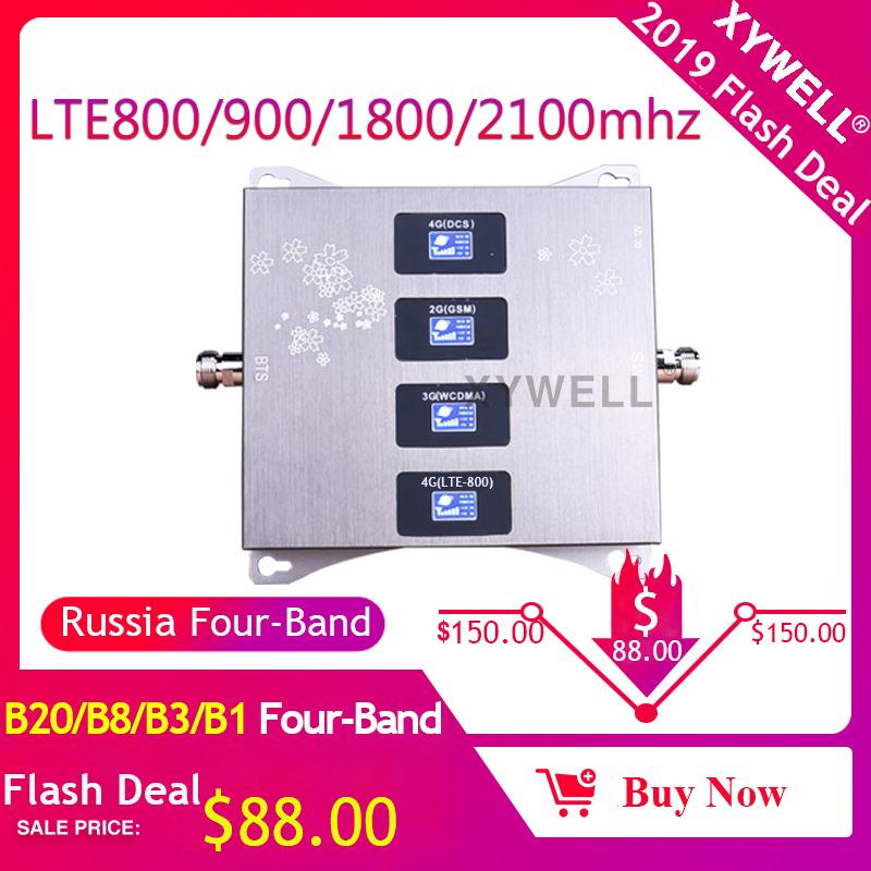 Four-Band B20)LTE800/900/1800/2100mhz Cellular Amplifier 4g Mobile Signal Booster 2G 3G 4G GSM Signal Repeater LTE GSM DCS WCDMA