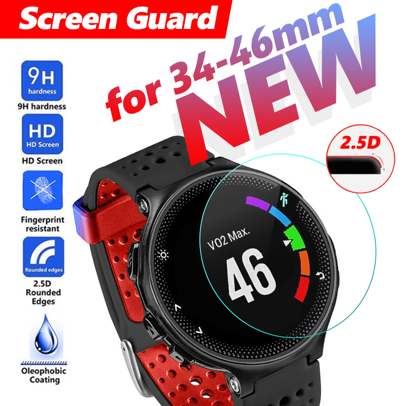 Clear Tempered Glass 34-46MM For Big Dial watch Screen Guard Protective Smart Watch Screen Protector Film men watch Glass Screen