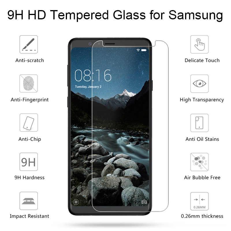 واضحة واقي للشاشة لسامسونج غالاكسي J5 2016 J3 2017 J330 الزجاج المقسى لسامسونج J7 2017 J730 J5 رئيس زجاج واقي