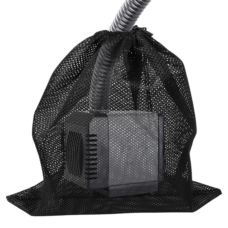 Aquarium Fish Tank Isolation Bag For Garden Pond Aquarium Pond Water Pump Filter Net Bag With Drawstring Black Aquarium Mesh Bag