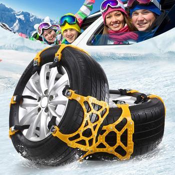 Szeroko stosowane uniwersalne awaryjne łańcuchy śnieżne trzy klamry łańcuchy śnieżne opona zimowa ścięgna pogrubienie antypoślizgowe hurtownia CSV tanie i dobre opinie TRUEFUL TPU + alloy steel nail Łańcuchy śniegowe Free Shipping Wholesale tire width 165mm-265mm between car off-road SUV all models